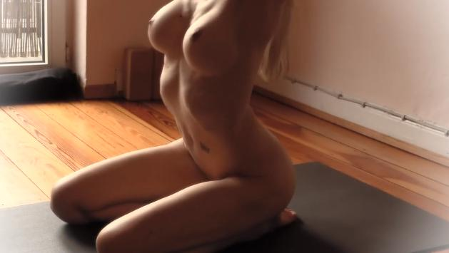 Naked yoga clips